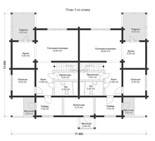 изображение проекта дома Проект дома из клееного бруса Дуплекс Артек