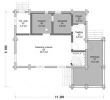 изображение проекта дома Проект дома из клееного бруса Емино