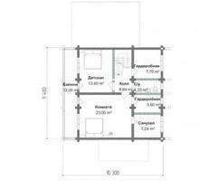 изображение проекта дома Проект дома из клееного бруса РЗ-01