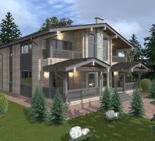 изображение проекта дома Проект дома из клееного бруса Альпийский