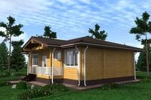 изображение проекта дома Проект дома из клееного бруса Ногинск-2