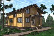 изображение проекта дома Проект дома из клееного бруса Купанское