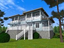 изображение проекта дома Проект дома из клееного бруса Подвойское