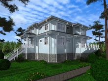 изображение проекта дома Проект дома из клееного бруса Никишкино