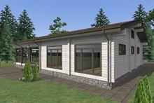 изображение проекта дома Проект дома из клееного бруса Певчая