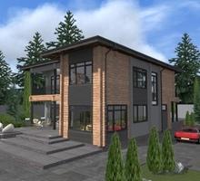 изображение проекта дома Проект дома из клееного бруса Европейский