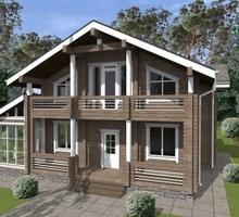 изображение проекта дома Проект дома из клееного бруса Крымский-52