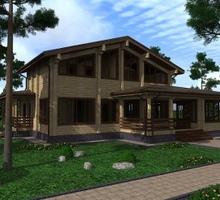 изображение проекта дома Проект дома из клееного бруса Новоселки-2