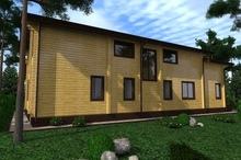 изображение проекта дома Проект дома из клееного бруса Александровы пруды