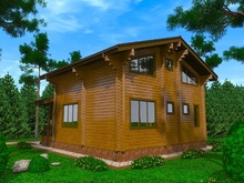изображение проекта дома Проект дома из клееного бруса Шале Савостино