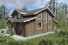 изображение проекта дома Проект дома из клееного бруса Дарьино