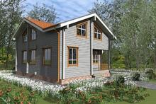 изображение проекта дома Проект дома из клееного бруса Лучи-7