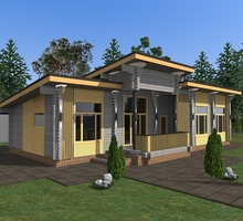 изображение проекта дома Проект дома из клееного бруса Александрийский