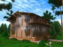 изображение проекта дома Проект дома из клееного бруса Шале Заозерье