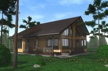 изображение проекта дома Проект дома из клееного бруса Абрамцево