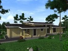 изображение проекта дома Проект дома из клееного бруса Красногорск