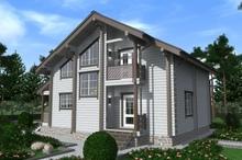 изображение проекта дома Проект дома из клееного бруса Биреево