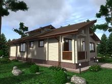 изображение проекта дома Проект дома из клееного бруса Колвица