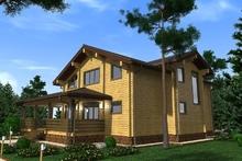 изображение проекта дома Проект дома из клееного бруса Дроздовка