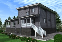 изображение проекта дома Проект дома из клееного бруса Хайтек 2