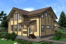 изображение проекта дома Проект дома из клееного бруса Маяк-2