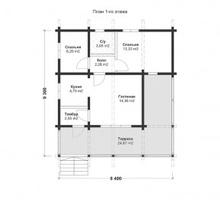 изображение проекта дома Проект дома из клееного бруса Подковка
