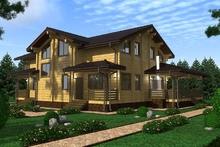 изображение проекта дома Проект дома из клееного бруса Полярный