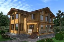 изображение проекта дома Проект дома из клееного бруса Прибрежный