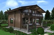 изображение проекта дома Проект дома из клееного бруса Шале Адмирал