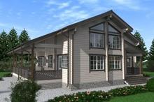 изображение проекта дома Проект дома из клееного бруса Шевляково