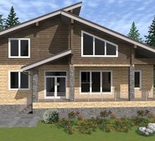 изображение проекта дома Проект дома из клееного бруса Шале Марика