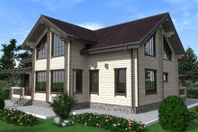изображение проекта дома Проект дома из клееного бруса Тверь