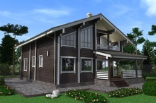 изображение проекта дома Проект дома из клееного бруса Устиново-1