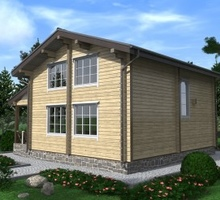 изображение проекта дома Проект дома из клееного бруса Золотые Сосны