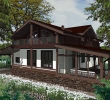 изображение проекта дома Проект дома из клееного бруса Шале-2