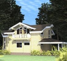 изображение проекта дома Проект дома из клееного бруса Осенний бульвар