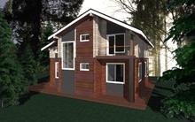 изображение проекта дома Проект дома из клееного бруса Шале-5
