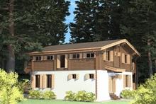 изображение проекта дома Проект дома из клееного бруса Шале Саров