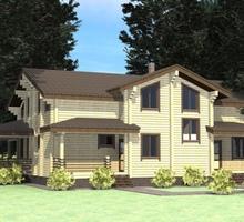 изображение проекта дома Проект дома из клееного бруса Озерный-2