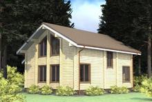 изображение проекта дома Проект дома из клееного бруса Восток-71