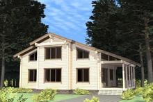 изображение проекта дома Проект дома из клееного бруса Березники