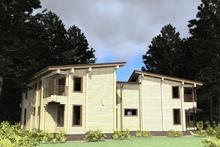 изображение проекта дома Проект дома из клееного бруса Октябрьский