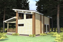 изображение проекта дома Проект дома из клееного бруса Шале Львов