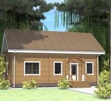 изображение проекта дома Проект дома из клееного бруса Нева