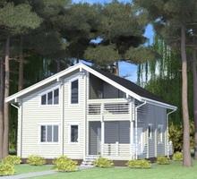 изображение проекта дома Проект дома из клееного бруса Парабель
