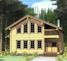 изображение проекта дома Проект дома из клееного бруса Кама