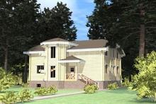 изображение проекта дома Проект дома из клееного бруса Отрадное 2