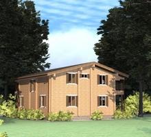 изображение проекта дома Проект дома из клееного бруса Шале Иваново
