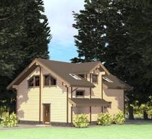 изображение проекта дома Проект дома из клееного бруса Дольче Вита