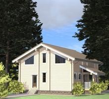 изображение проекта дома Проект дома из клееного бруса Синий Камень